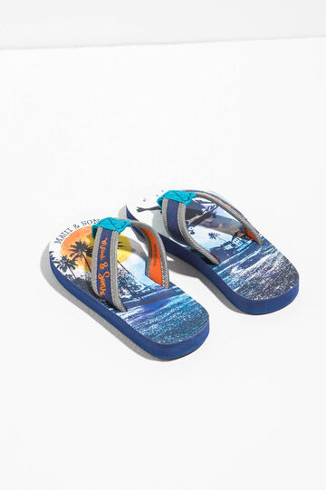 Maui and Sons printed thong sandal, Navy Blue, hi-res