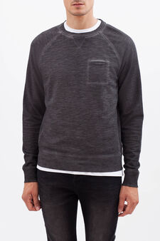 100% cotton sweatshirt with raglan sleeves, Grey, hi-res