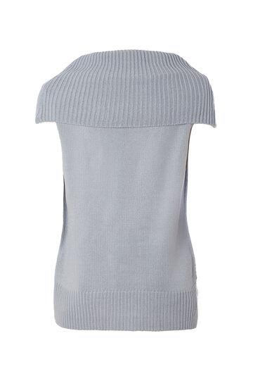 Smart Basic waistcoat with high neck, Azure, hi-res