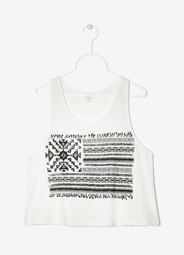 Cropped printed vest | OVS