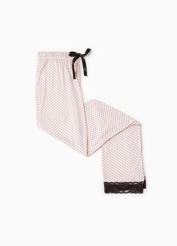 Polka dot pyjama trousers in lace | OVS