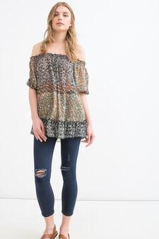 Floral print blouse, Multicolour, hi-res