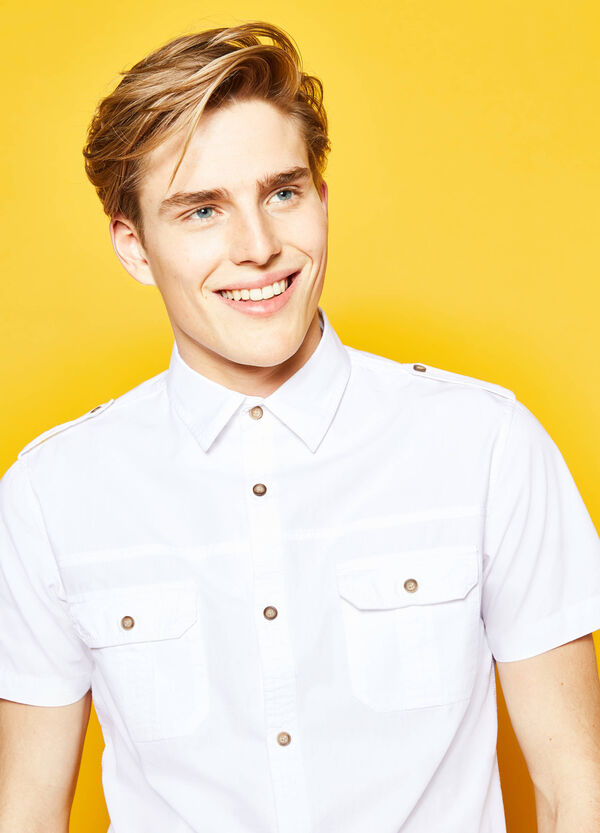 G&H casual shirt with epaulettes | OVS