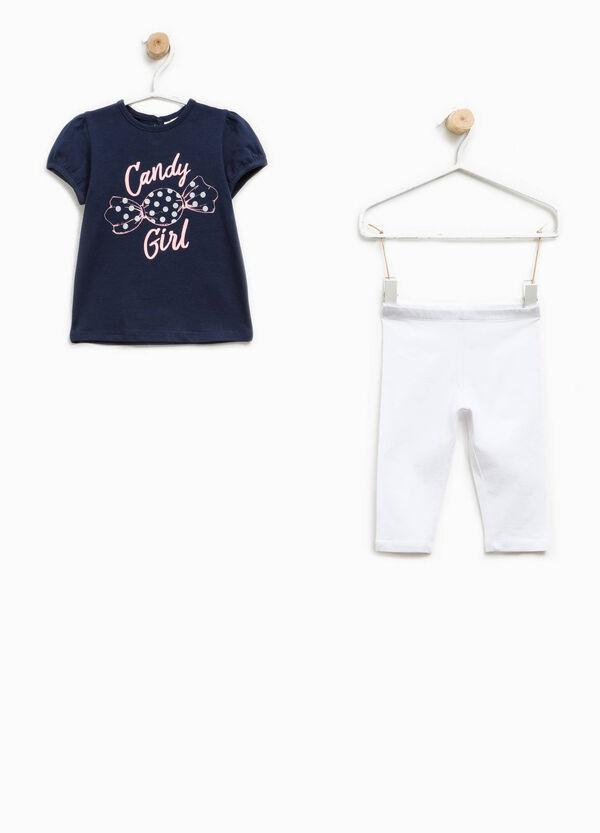 Completo t-shirt e leggings in cotone | OVS