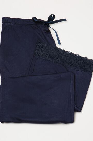 Pantaloni pigiama viscosa pizzo
