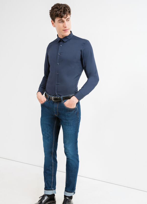 Camicia casual slim fit collo classico | OVS