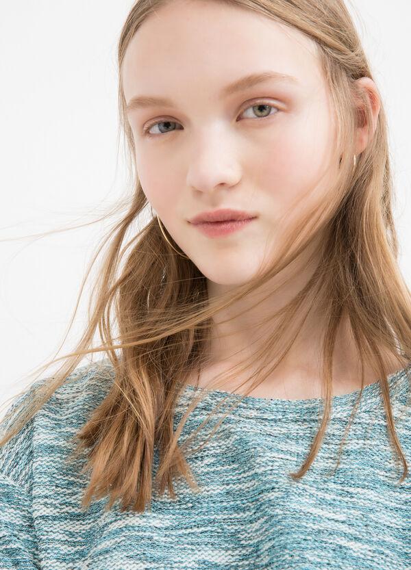 Cotton blend sweatshirt with rear fastening | OVS