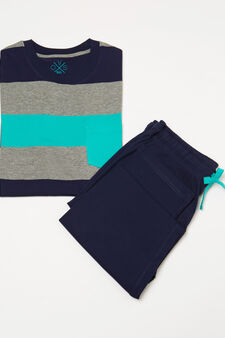 Striped pyjamas in 100% cotton, Multicolour, hi-res