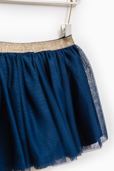 Skirt lined in tulle, Blue, hi-res