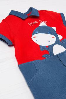 100% cotton romper suit, Red, hi-res