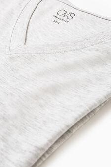 V-neck cotton undershirt, Light Grey, hi-res