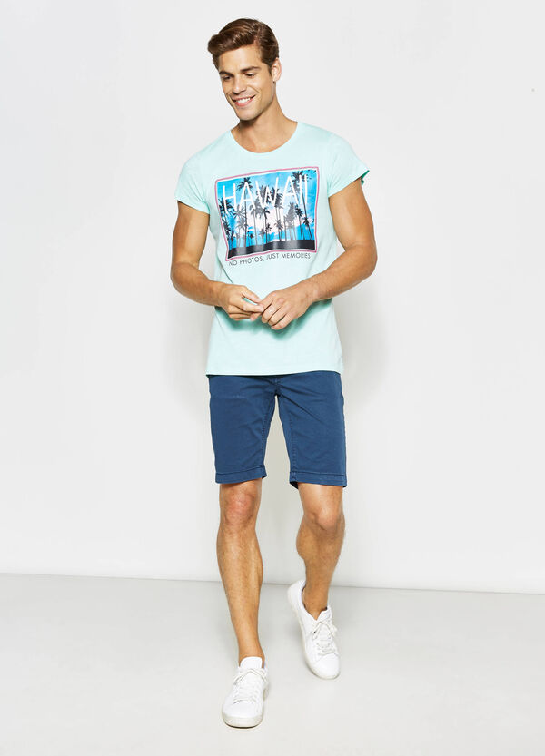 Cotton T-shirt with print | OVS