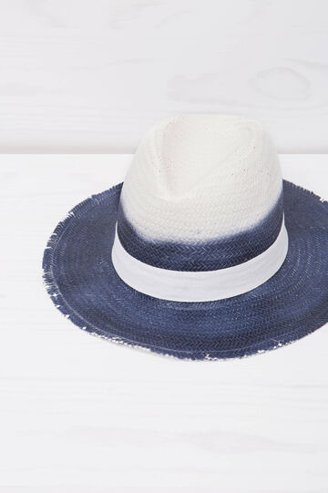 Degradé hat with wide brim, White/Blue, hi-res