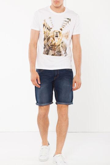 T-shirt a maniche corte, Bianco stampa 1, hi-res