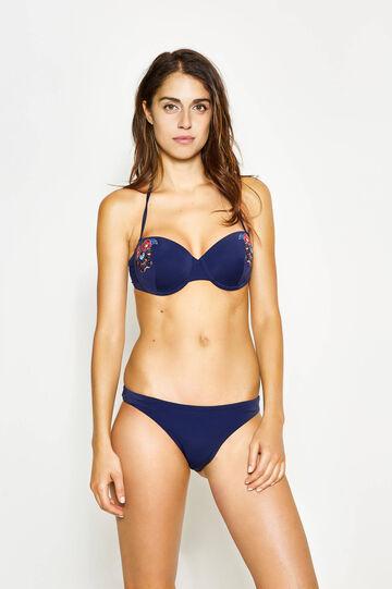 Balconette bikini bra with embroidery