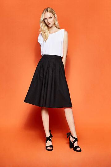 High-waisted skirt with pleats