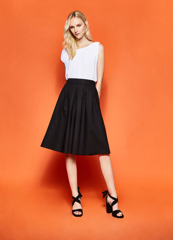 High-waisted skirt with pleats | OVS
