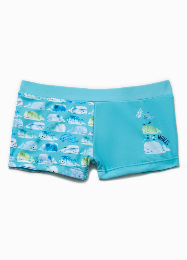 Swim boxer shorts with print and whale pattern | OVS