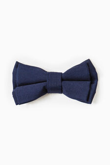Solid colour bowtie, Navy Blue, hi-res