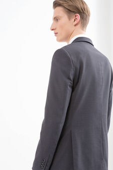 Slim fit stretch blazer, Grey, hi-res