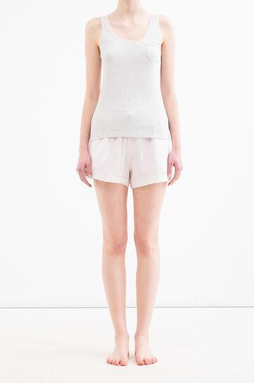 100% cotton pyjamas with breast pocket, Grey/Pink, hi-res