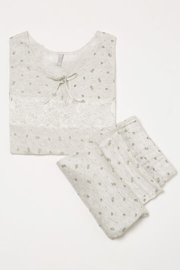 Viscose pyjamas with lace