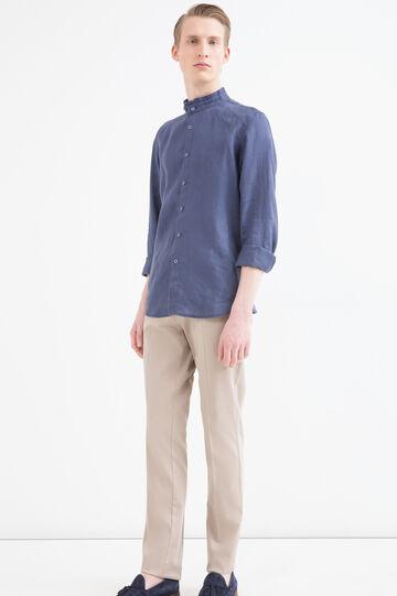 Five-pocket cotton trousers, Beige, hi-res