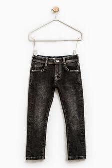 Jeans skinny fit effetto delavato, Grigio, hi-res