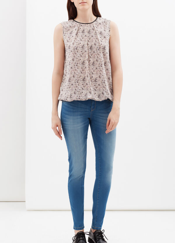 Sleeveless floral blouse | OVS