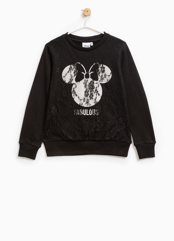 Lace sweatshirt with Minnie Mouse print | OVS