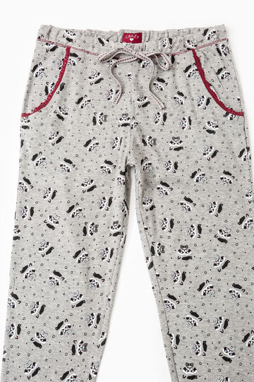 Set of two cotton pyjama bottoms, Black, hi-res