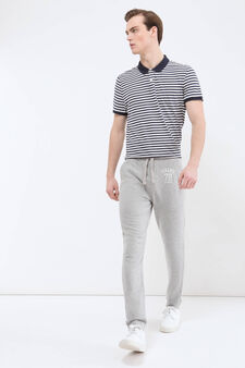 Pantaloni tuta puro cotone, Grigio chiaro, hi-res