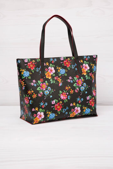Shopping bag similpelle fantasia, Nero, hi-res
