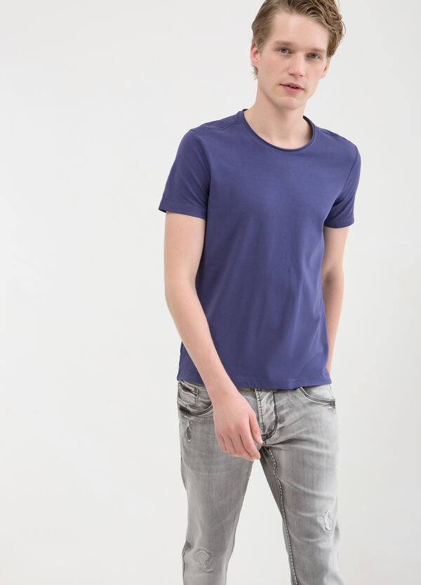 Violetta T-shirt in stretch cotton. | OVS