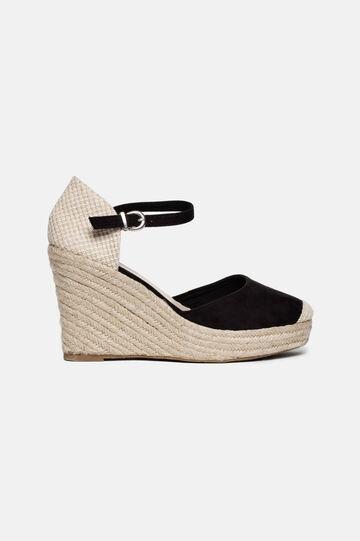 Sandals with rope heel, Black, hi-res