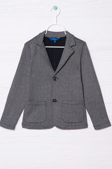100% cotton jacket with pockets, White/Blue, hi-res