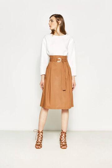 Longuette skirt with belt