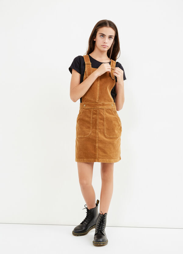 Teen pinafore dress in corduroy | OVS