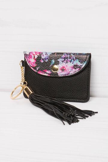 Floral pattern keyring, Multicolour, hi-res