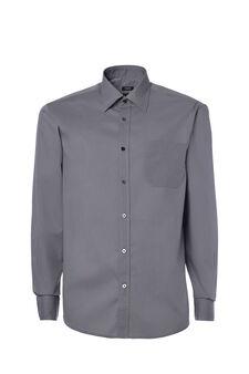 Cotton blend, regular fit shirt, Grey, hi-res