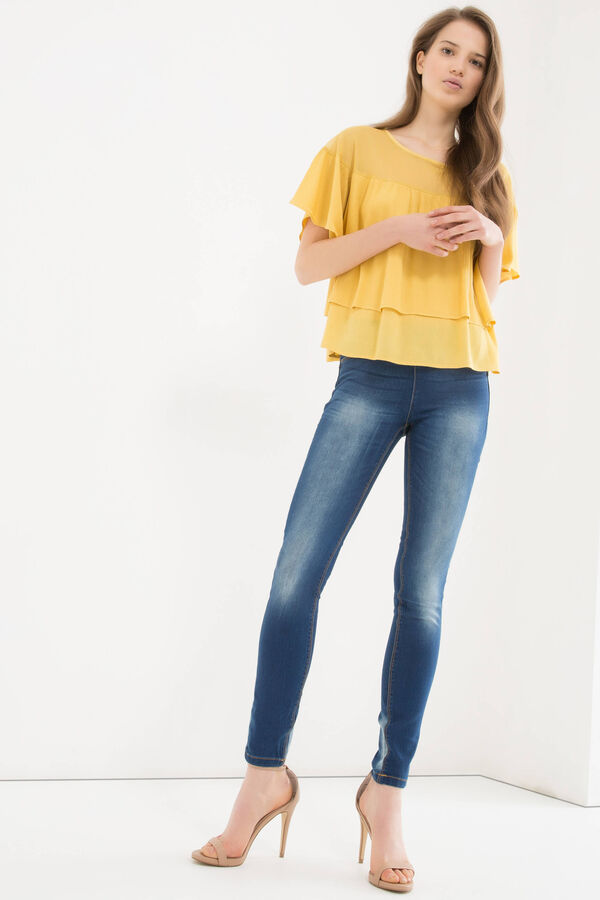 Misdyed stretch jeggings | OVS