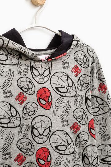 Felpa stampa Spiderman all-over, Grigio, hi-res