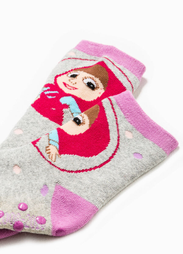 Slipper socks with Masha and the Bear embroidery | OVS