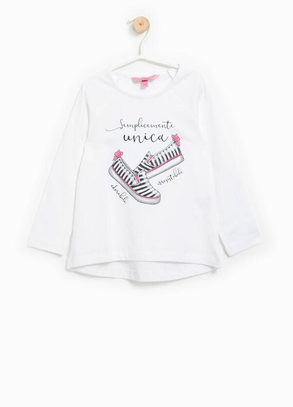 Camiseta con estampado con purpurina | OVS