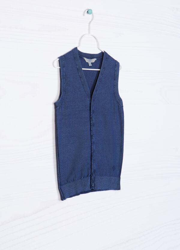 100% cotton knitted waistcoat. | OVS