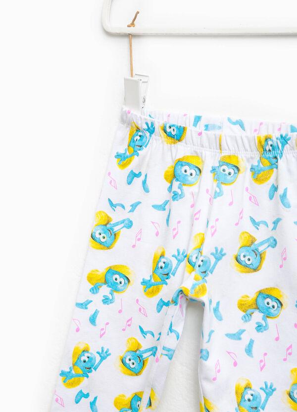 Smurfs patterned stretch leggings | OVS