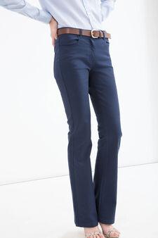 Jeans a zampa stretch tinta unita, Lavaggio scuro, hi-res