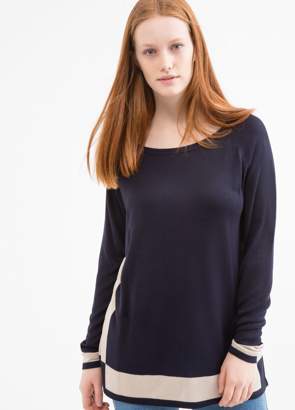 Curvy 100% viscose pullover | OVS