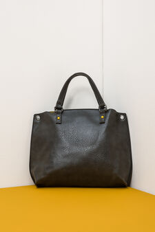 Textured effect handbag., Grey, hi-res