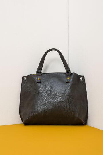 Textured effect handbag., Grey, hi-res